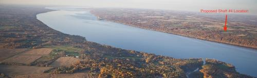 Proposed Shaft 4 Location - Taughannock And Cayuga Lake Fall 2012 - Bill Hecht